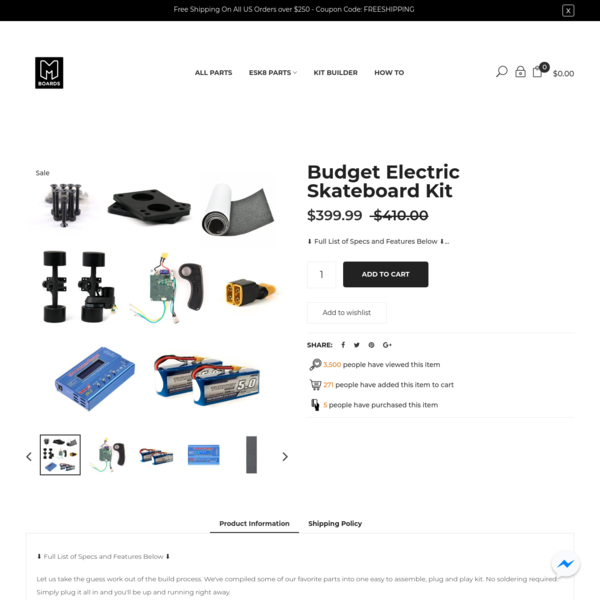 Budget Electric Skateboard Kit
