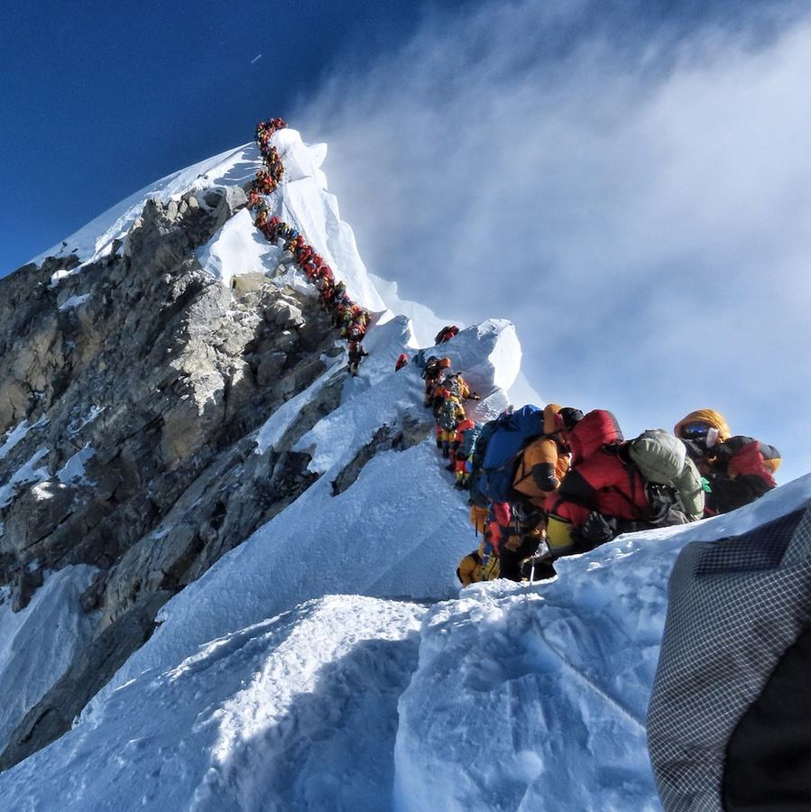 Mt Everest's summit has a queue