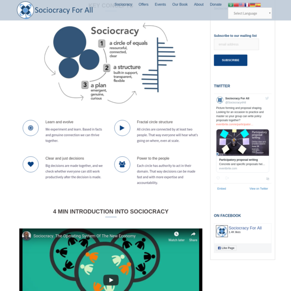 Sociocracy - Sociocracy For All