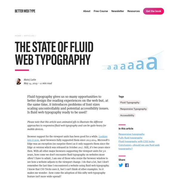 The State of Fluid Web Typography