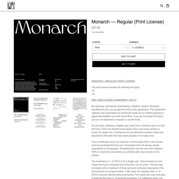 Monarch - Regular (Print License)
