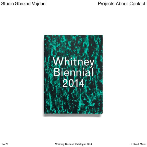 Studio Ghazaal Vojdani | Whitney Biennial Catalogue 2014
