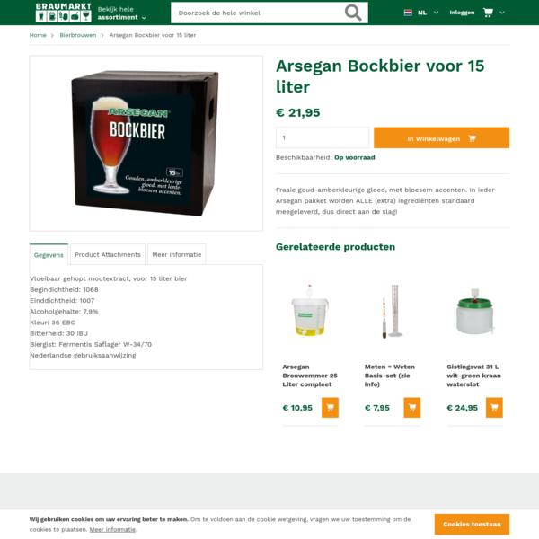 Arsegan Bockbier voor 15 liter