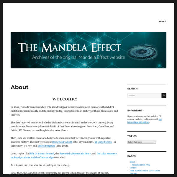 Mandela Effect by Fiona Broome