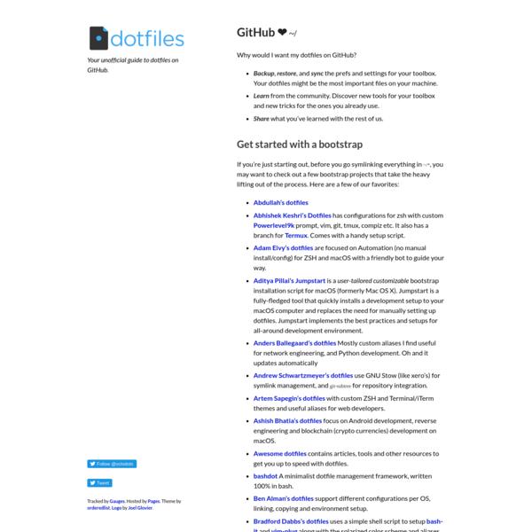 GitHub does dotfiles - dotfiles.github.io