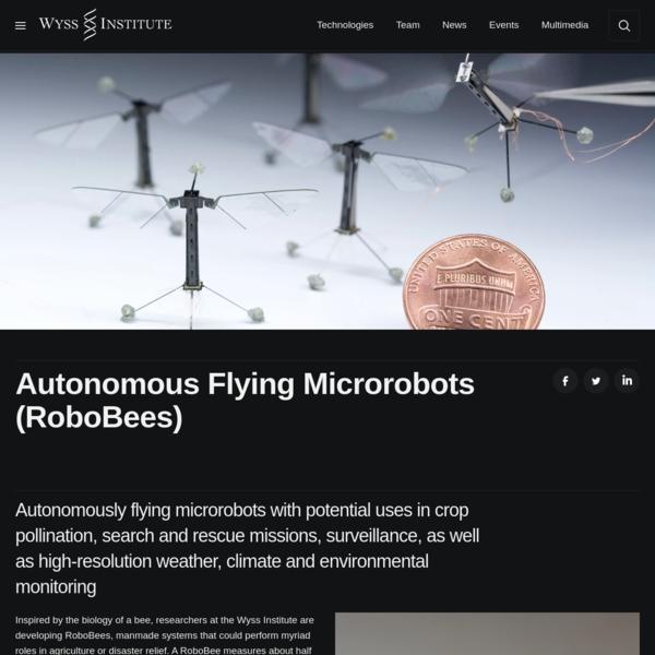 Autonomous Flying Microrobots (RoboBees)