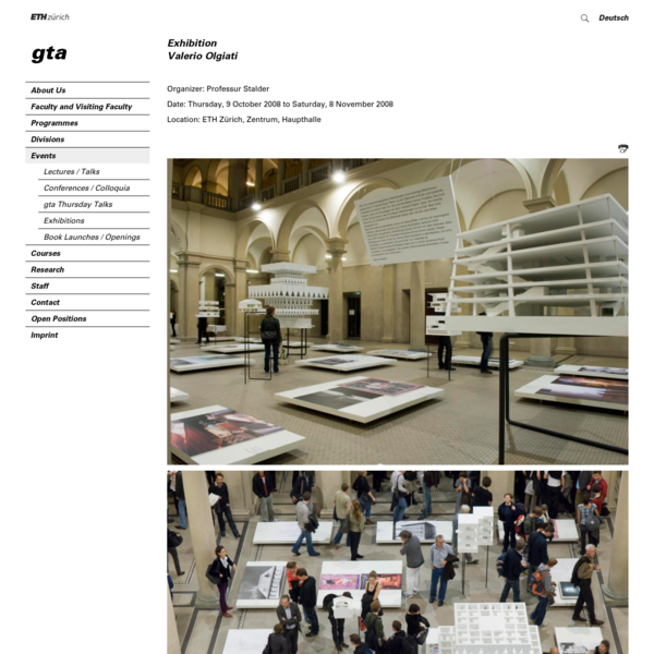Exhibition - Valerio Olgiati - gta - Institute for the History Theory of Architecture - ETH Zurich