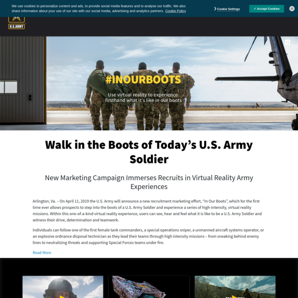 Walk in the Boots of Today's U.S. Army Soldier