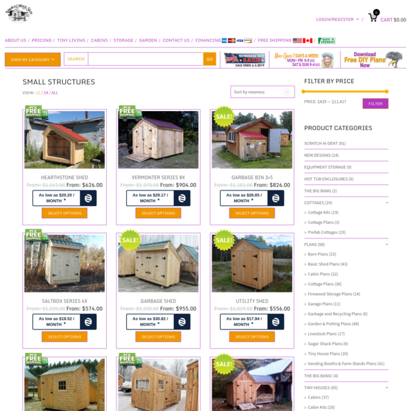 Small Shed Kits | Small Storage Sheds For Sale