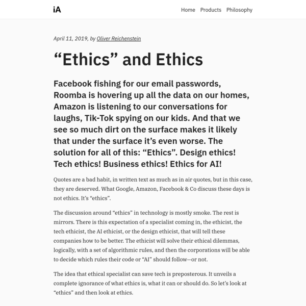 Ethics in Contemporary Technology, Design and Business