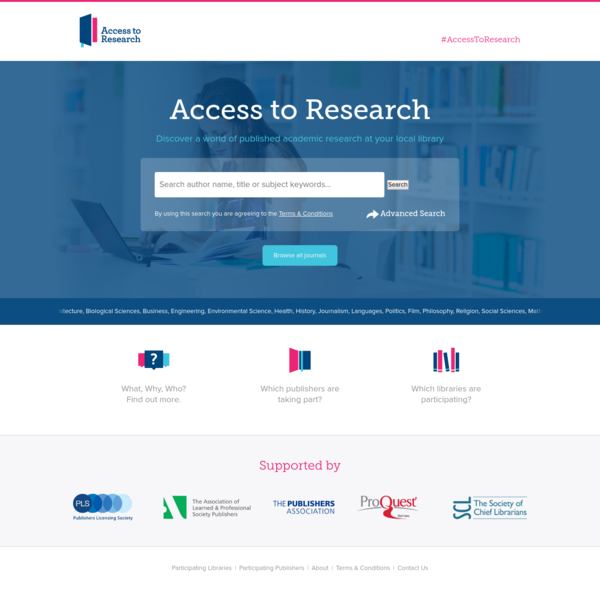 Public Library Initiative by PLS and ProQuest | Access To Research