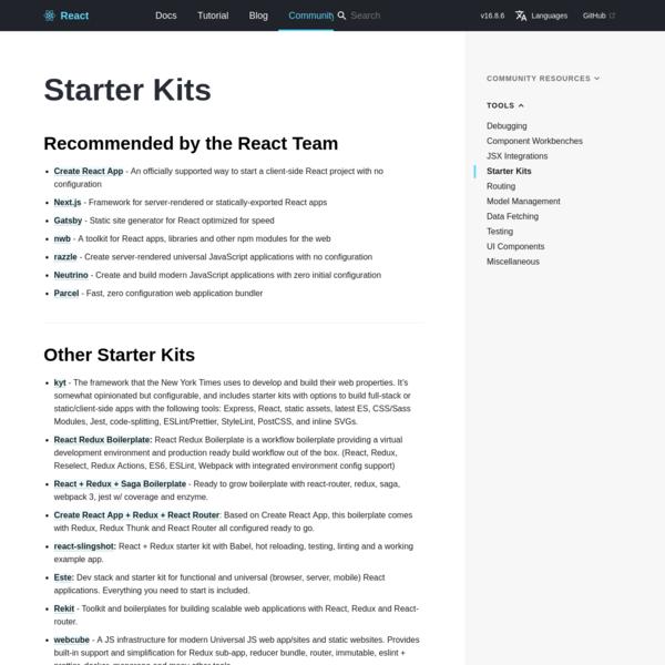 Starter Kits - React