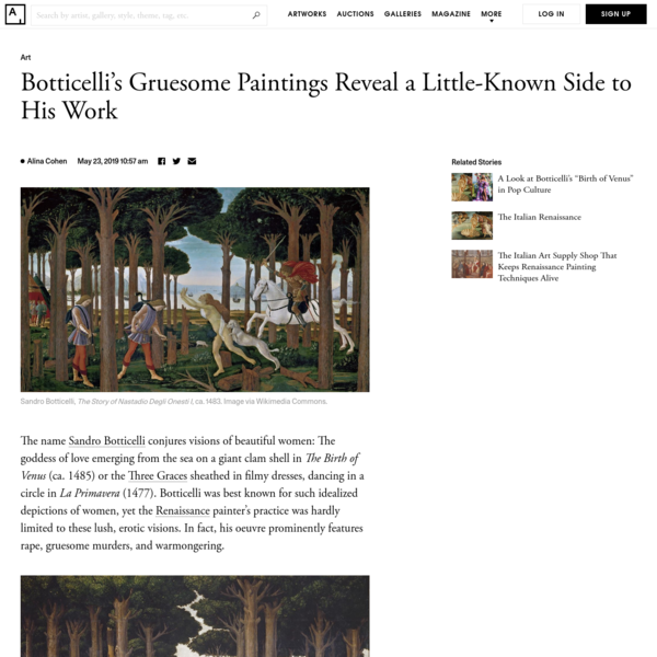 Botticelli's Gruesome Paintings Reveal a Little-Known Side to His Work