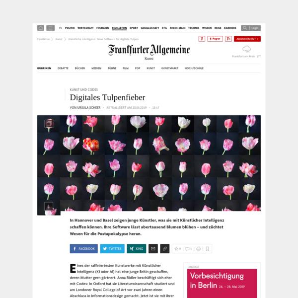 Kunst und Codes: Digitales Tulpenfieber