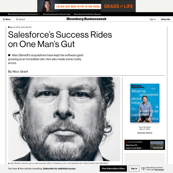 Salesforce's Success Rides on One Man's Gut - Bloomberg