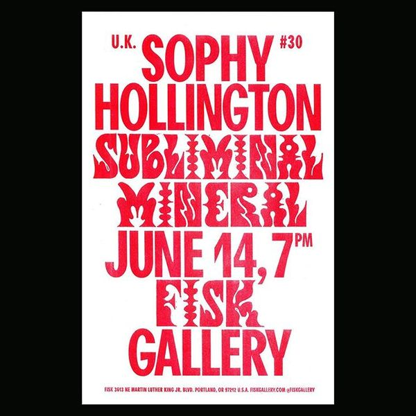 We're thrilled to announce UK based artist Sophy Hollington's solo show Subliminal Mineral which opens June 14, 7pm ❤️