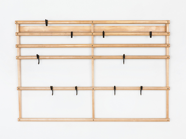 Carl Auböck wall-mounted coat rack