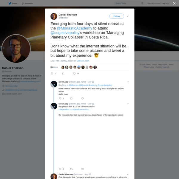 Daniel Thorson on Twitter