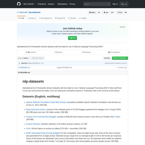 niderhoff/nlp-datasets