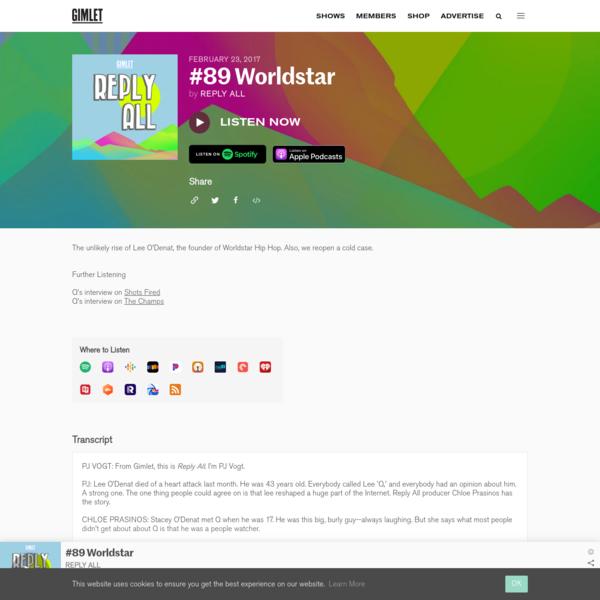 #89 Worldstar | Reply All