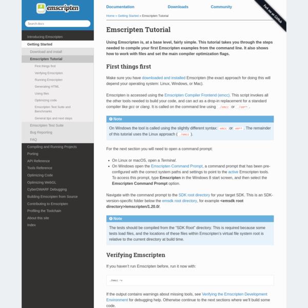 Emscripten Tutorial - Emscripten 1.38.32 documentation