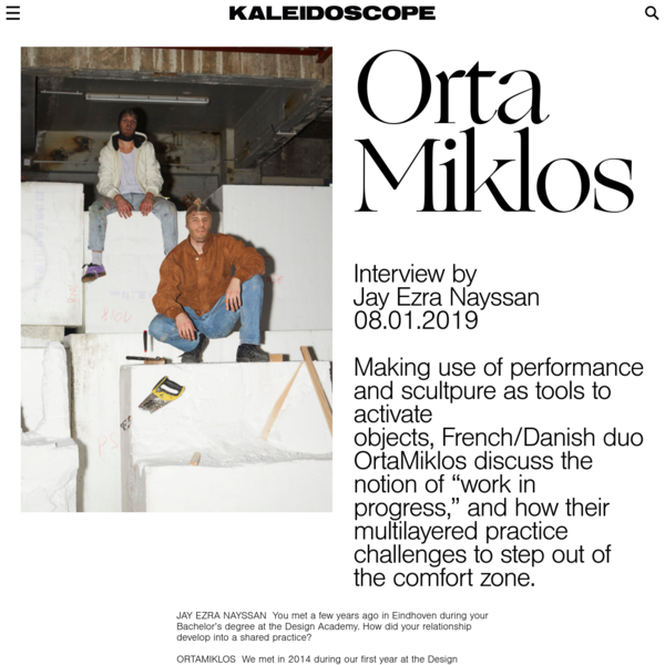KALEIDOSCOPE - OrtaMiklos: Exploring objects through performance.
