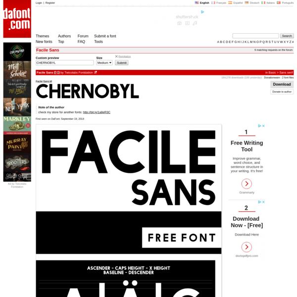 Facile Sans Font | dafont.com