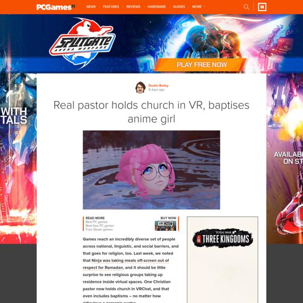 Real pastor holds church in VR, baptises anime girl