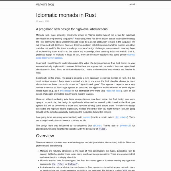 Idiomatic monads in Rust