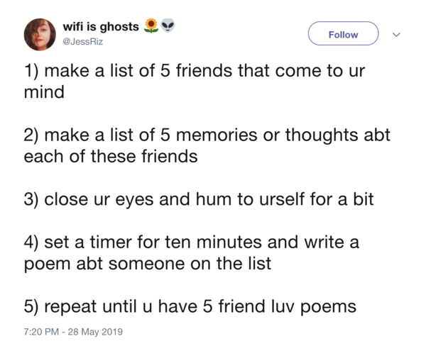 friend luv poems