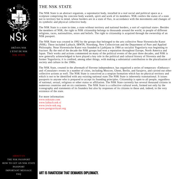 NSK STATE : English