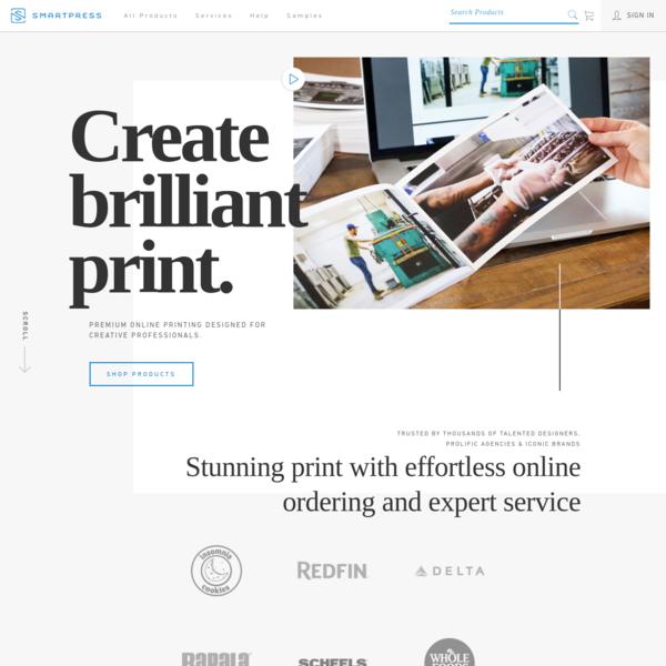 Smartpress | Premium Online Printing Designed for Creative Professionals | Create brilliant print.