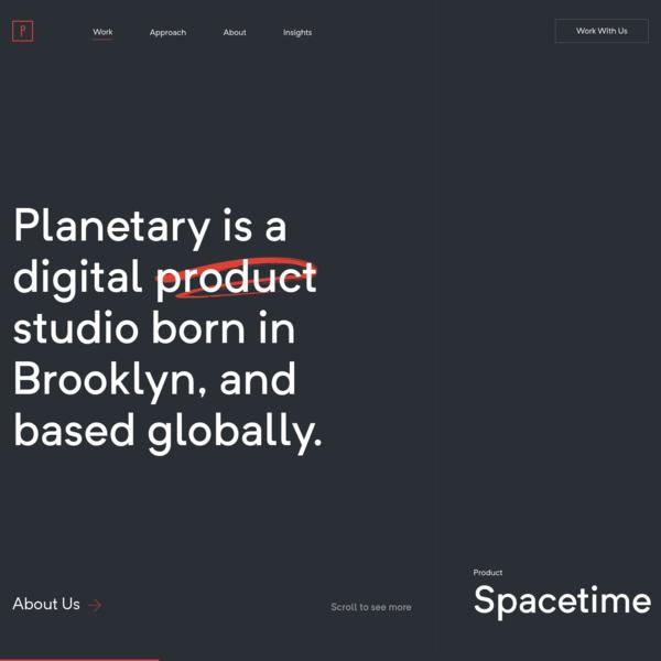 Digital & Web Product Studio in Brooklyn, NYC | Planetary