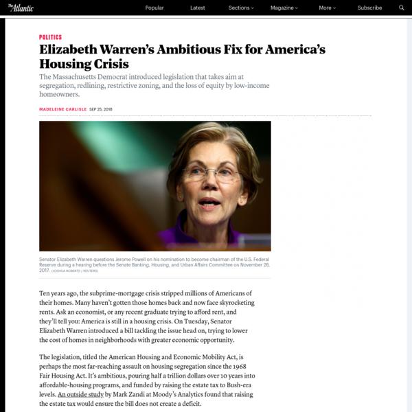 Elizabeth Warren Just Introduced a Major Housing Bill