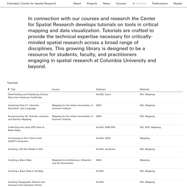 Center for Spatial Research, Columbia University