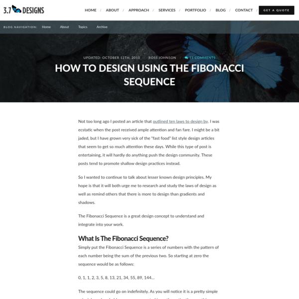 How To Design Using The Fibonacci Sequence