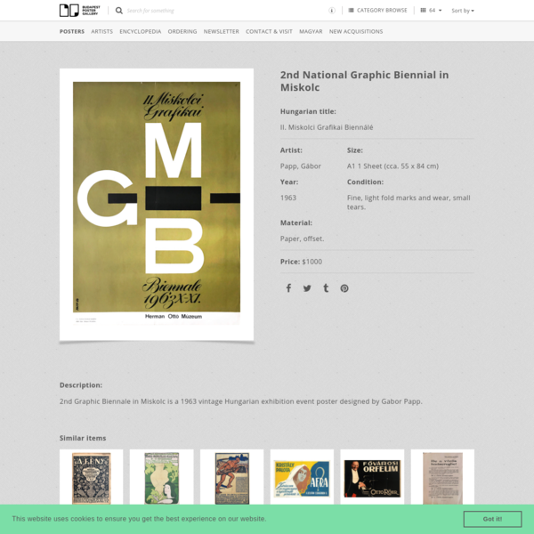 2nd National Graphic Biennial in Miskolc | Budapest Poster Gallery