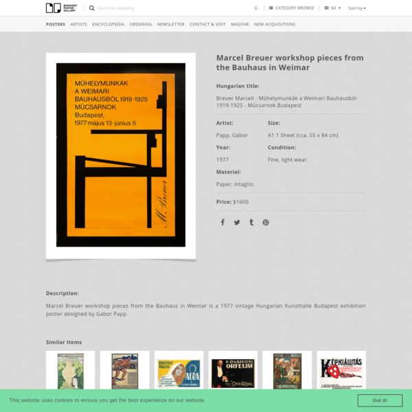 Marcel Breuer workshop pieces from the Bauhaus in Weimar | Budapest Poster Gallery