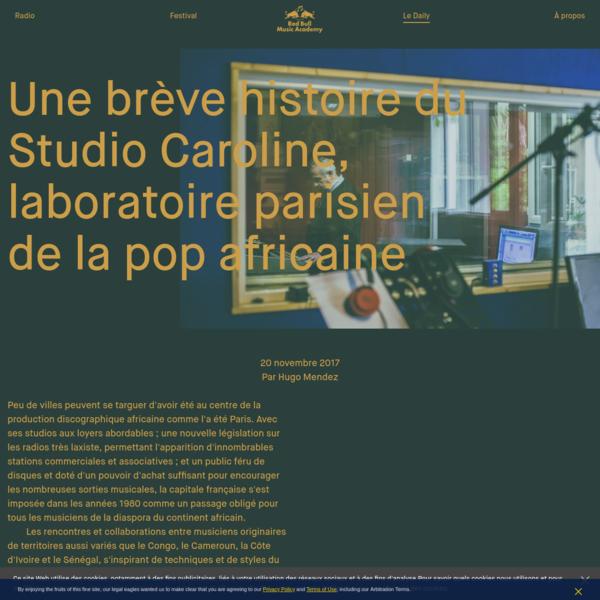 Une brève histoire du Studio Caroline, laboratoire parisien de la pop africaine