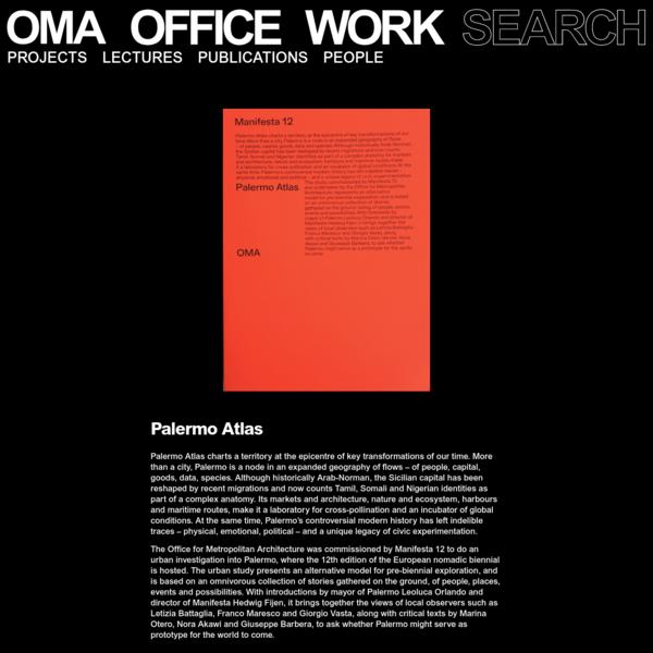 OMA/AMO – Manifesta, Palermo Atlas