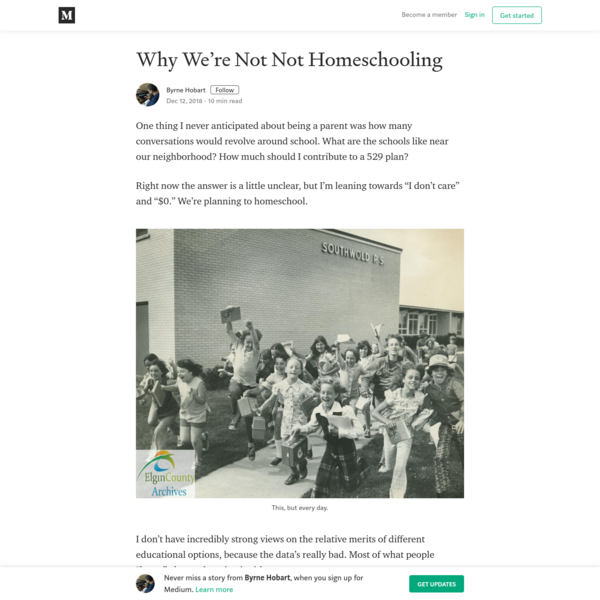 Why We're Not Not Homeschooling