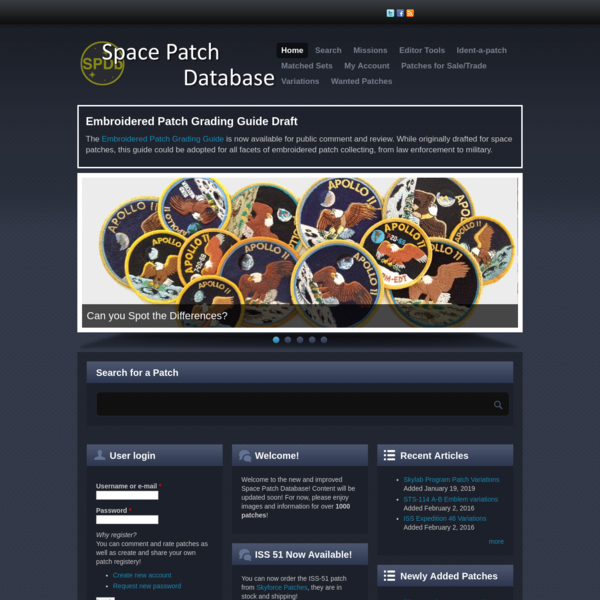 Space Patch Database