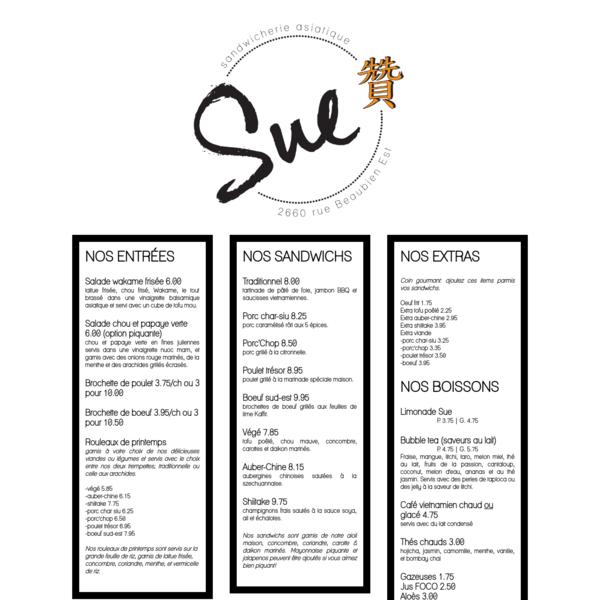 Sandwicherie Sue