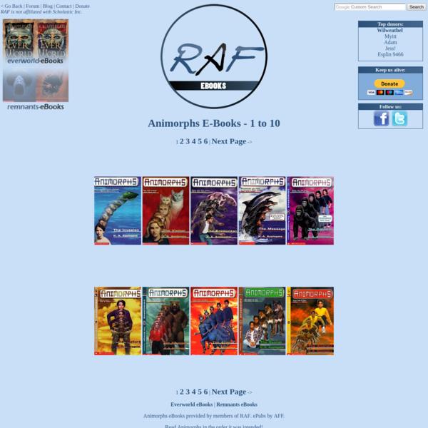 Richard's Animorphs Forum - Animorphs eBooks