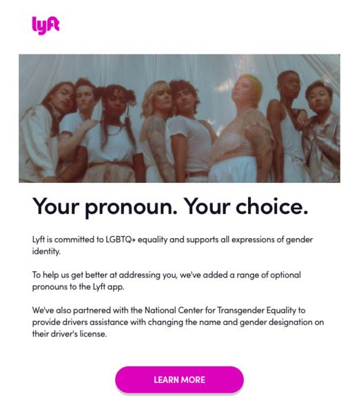 Lyft Pronouns