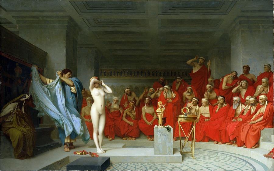 Phryne revealed before the Areopagus, by Jean-Léon Gérôme