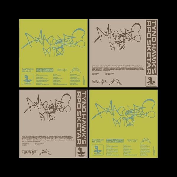 Dangerous Mix - alternative playlist for THPS2 #graphicdesign #tonyhawk #graffitistyle