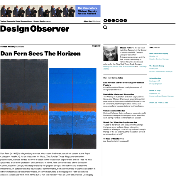 Dan Fern Sees The Horizon: Design Observer