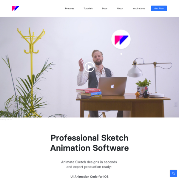 Flow - Animate Sketch Designs in Seconds, Export to iOS/Web/SVG