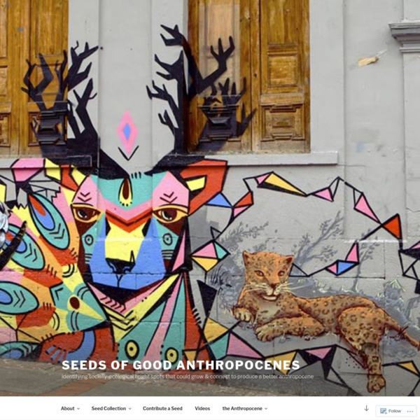 seeds of good anthropocenes
